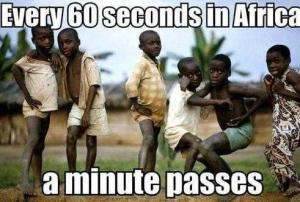 But the question is, is that minute African?
