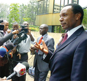 H. Kosgey, seen here not being duped by a foreigner.