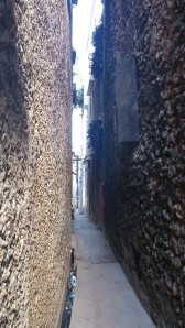 Lamu's famous Old Town's streets are narrow. If this was anywhere else, I'ldbe scared of what lurks in the corner...